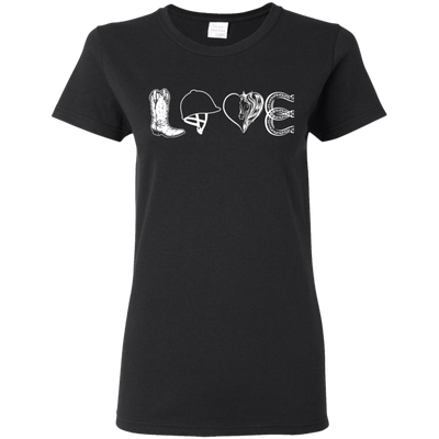 Beautiful Black Presents For Collection Horse T Shirt Love