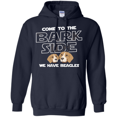 Nice Beagle Black T Shirt - Come To The Bark Side We Have Beagles