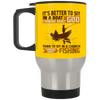 Sit In A Boat Thinking About God Travel Mug
