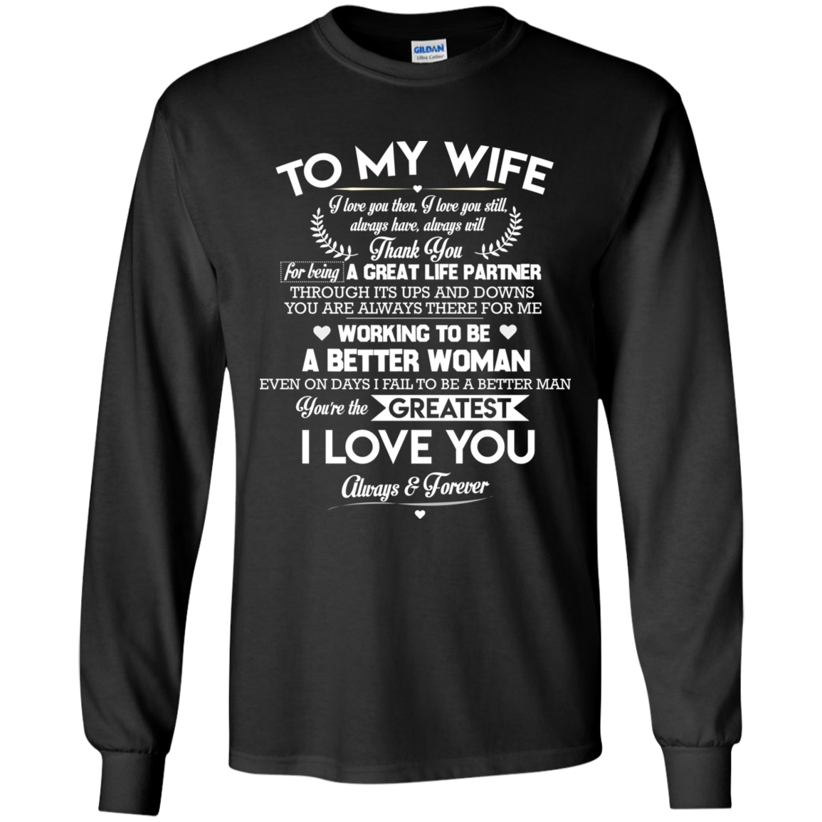 49f3eee9034b Thank You For Being A Great Life Partner - Always And Forever Couple T Shirt