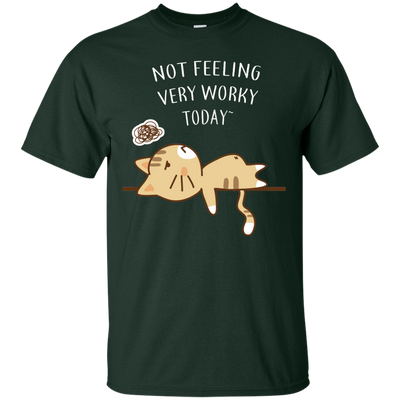 Beautiful Cat Tshirts Not Feeling Very Worky Today T Shirt