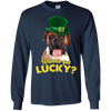 Nice Boxer T Shirt - Wanna Get Lucky, is a cool gift for friends