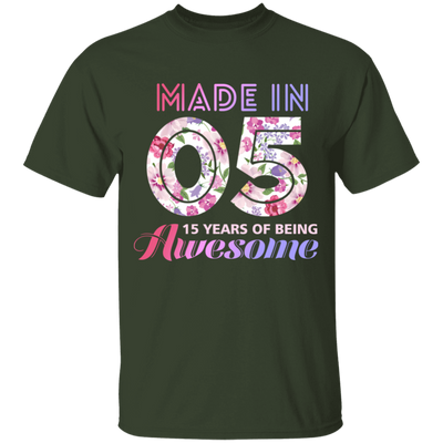 Age - Made In 05 15 Years Of Being Awesome T-shirt