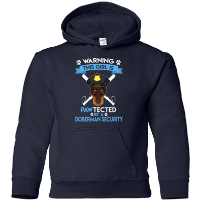 This Girl Is Pawtected By Doberman Security T Shirt