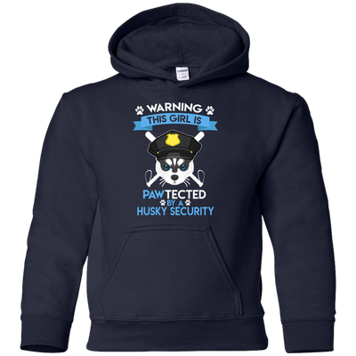 This Girl Is Pawtected By Husky Security T Shirt