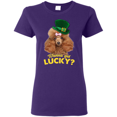 Nice Poodle T Shirt - Wanna Get Lucky, is a cool gift for friends