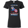 Nice Pitbull T Shirt - This Girl Is Protected By Captain America