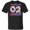 Age - Made In 02 18 Years Of Being Awesome T-shirt