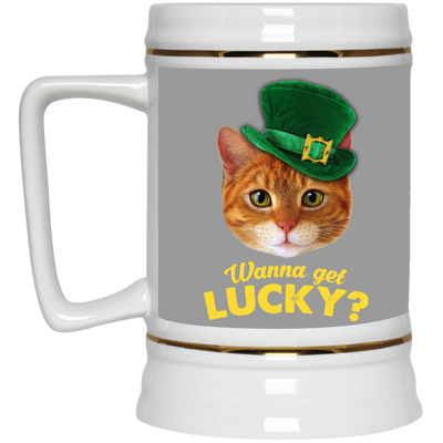 Nice Cat Black Mug - Wanna Get Lucky, is a cool gift for friends