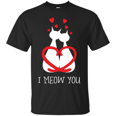 Nice Cat T Shirt - I Meow You, is a cool gift for friends and family