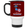Nice Dachshund Mug - This Girl Is Protected By Captain America