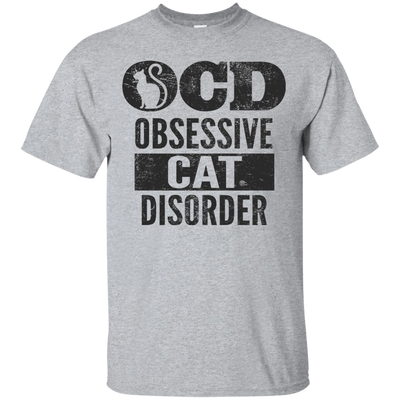 Obsessive Cat Disorder Adorable Cat Lover T Shirt