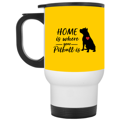 Nice Pitbull Mug - Home Is Where Your Pitbull Is, is a cool gift