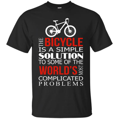 The Bicycle Is A Simple Solution Cycling T Shirt