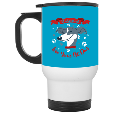 Nice Greyhound Mug - National Love Your Pet Day, is a cool gift