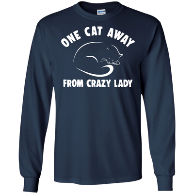 Colorful As Presents Cat T Shirt One Cat Away From Crazy Lady