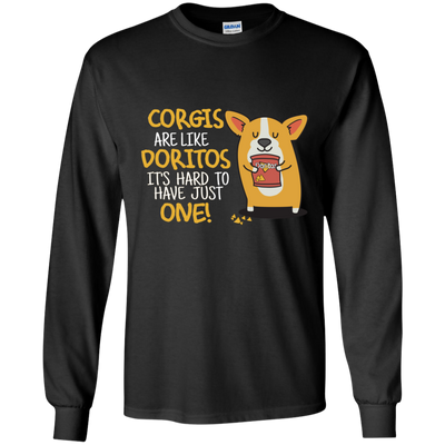 Nice Corgis Are Like Doritos It's Hard To Have Just One Dog T Shirt