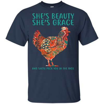 Lovely Gifts For Chicken T Shirt She Is Beautiful She Is Grace