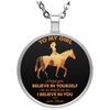 To My Girl - Horse Necklace