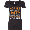 Horses Make Me Happy T Shirt