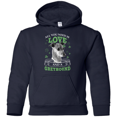 Nice Greyhound T Shirt - All You Need Is Love Greyhound St Patrick