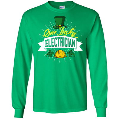 One Lucky Electrician T Shirt