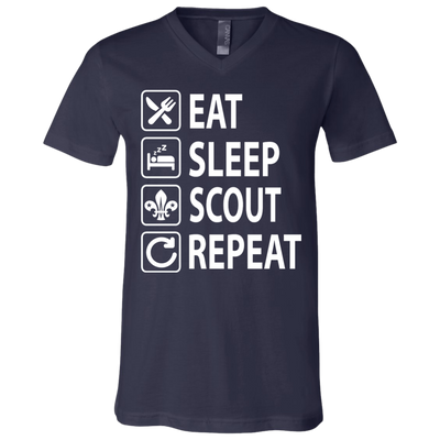 Eat Sleep Scout Repeat Scout Wosm T Shirt