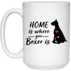 Nice Boxer Mug - Home Is Where Your Boxer Is, is a cool gift
