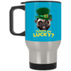 Nice Pug Black Mug - Wanna Get Lucky, is a cool gift for friends