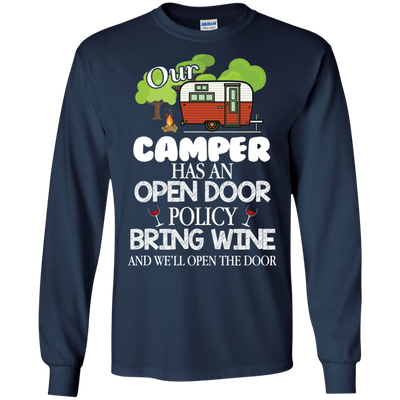 Interesting Black As Gifts Camping T Shirt We'll Open The Door