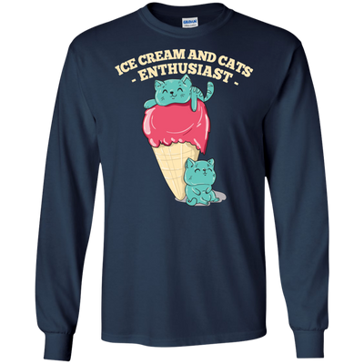 Interesting Black Cat T Shirt Ice Cream And Cats Enthusiast