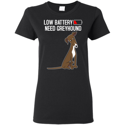Low Battery Need Greyhound T Shirt