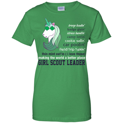 Girl Scout Leader Making The World A Better Place T Shirt