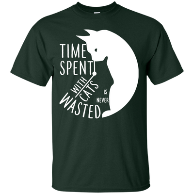 Amazing Cats Tshirts Time Spent With Cat is Never Wasted V1 T Shirt