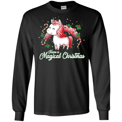 Beautiful Unique Unicorn T Shirt Have A Magical Christmas Happy