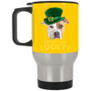 Nice Pitbull Mug - Wanna Get Lucky, is a cool gift for friends