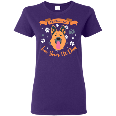 Nice German Shepherd T Shirt - National Love Your Pet Day, is a cool gift