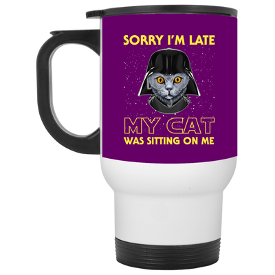 Nice Cat Mug - Sorry, My Cat Is Sitting On Me, is a cool gift