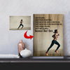 I Will Breathe - I Don't Quit Running Custom Canvas Print