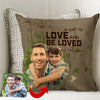 Just Love And Be Loved In Return Father Custom Cushion