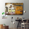 Love Of What You Are Doing Or Learning To Do Running Custom Canvas Print