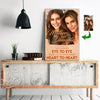 Not Eye To Eye But Heart To Heart Mother And Daughter Custom Canvas Print