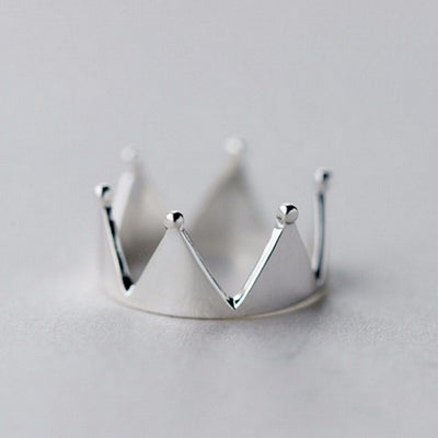 Sterling Silver Jewelry Elegant Exquisite Crown Ring for Princess Ring Handled