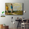 Thank You For Teaching Me To Run Mother Family Custom Canvas Print