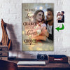 We Stay In Love By Choice Couple Custom Canvas Print
