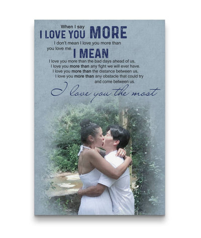 Sweet Kiss Forest - I Love You The Most Couple Canvas Print