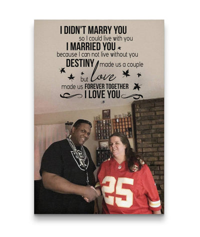 Fate and Destiny Made Us A Couple - Love Custom Canvas Print