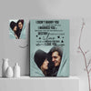 I Didn't Marry You So I Could Live With You Couple Custom Canvas Print