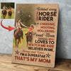 Horse Custom Canvas Print -  Behind every amazing horse rider