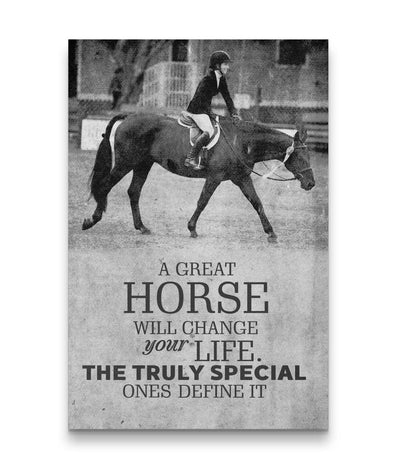 Great Horse Change Life - Truly Special Ones Define It Custom Canvas Print